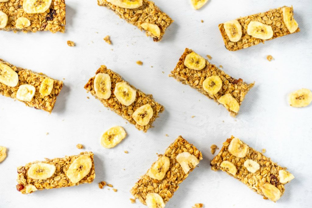 Easy vegan bananen flapjacks