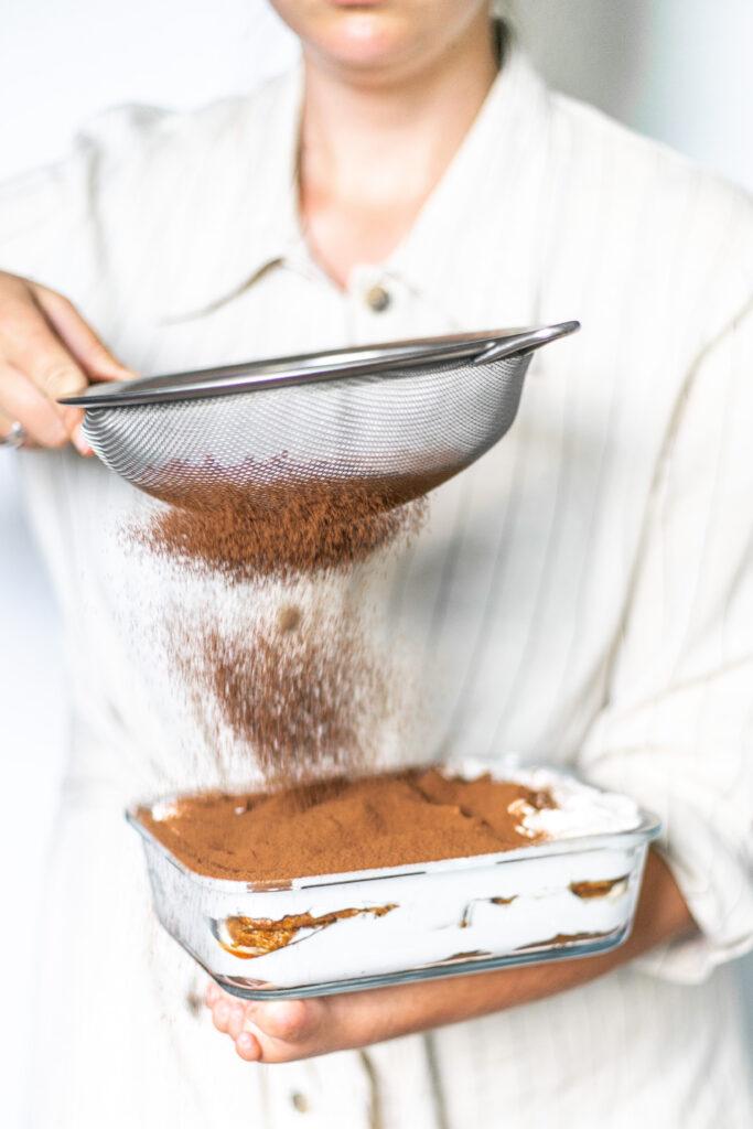 vegan tiramisu met cacao